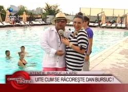 Dan Bursuc, Lele, Santo, Simona si Danut la piscina